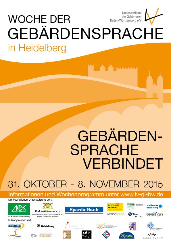Plakat Woche der Gebärdensprache in HD