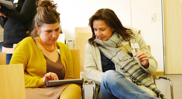 iPad-Übung im Workshop von Daniela Meiers
